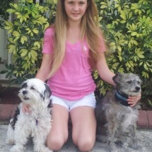 Amber and her 2 dogs: Cuddles & Teddy